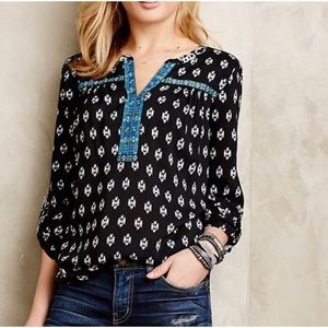 ONE SEPTEMBER ANTHROPOLOGIE print tunic top small